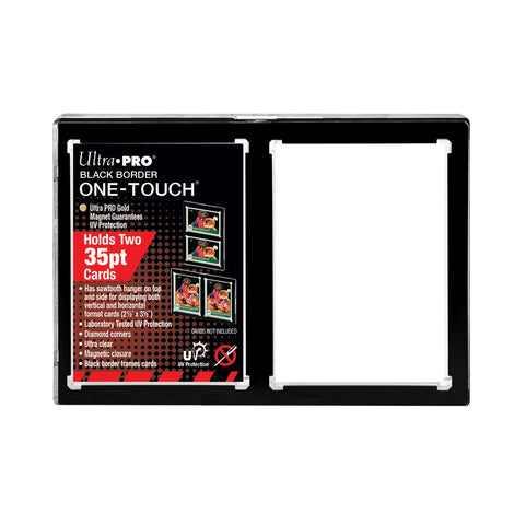 Ultra Pro: One Touch - 2 Card Magnetic Holder (Black Border)