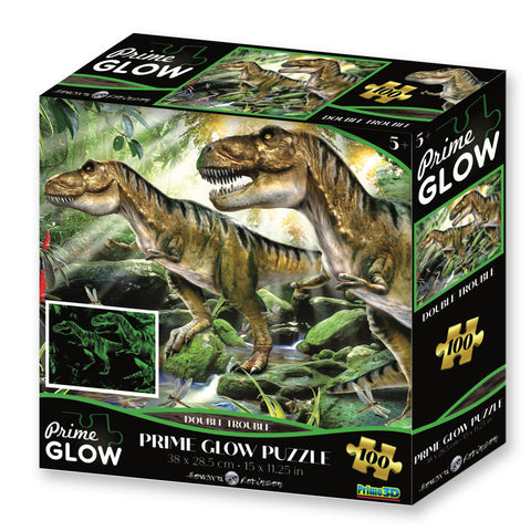 Super 3D: 100pc Glow In The Dark Puzzle - Double Trouble