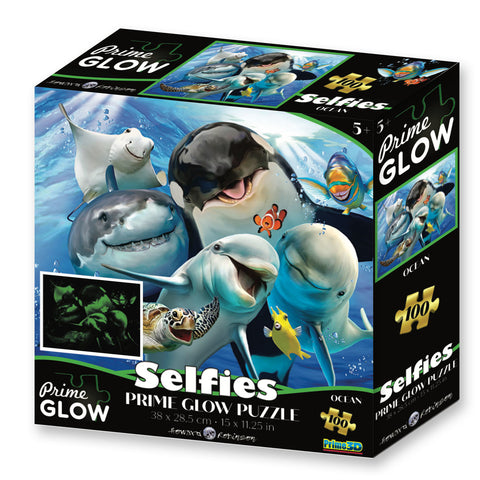 Super 3D: 100pc Glow In The Dark Puzzle - Selfies