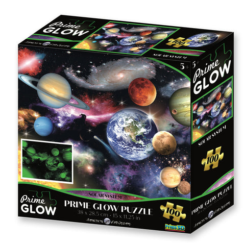 Super 3D: 100pc Glow In The Dark Puzzle - Solar System