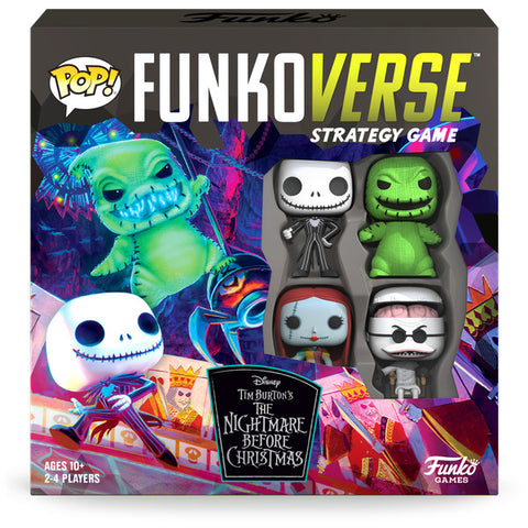 Funkoverse: Nightmare Before Christmas - Board Game (4-Pk)