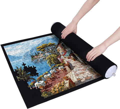 Puzzle Mat Roll for 500-1500 Pieces - Black