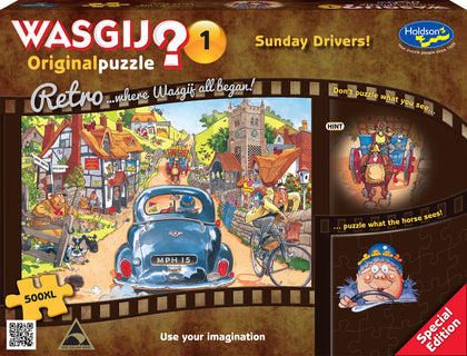Wasgij XL: 500 Piece Puzzle - Retro Original (Sunday Drivers)
