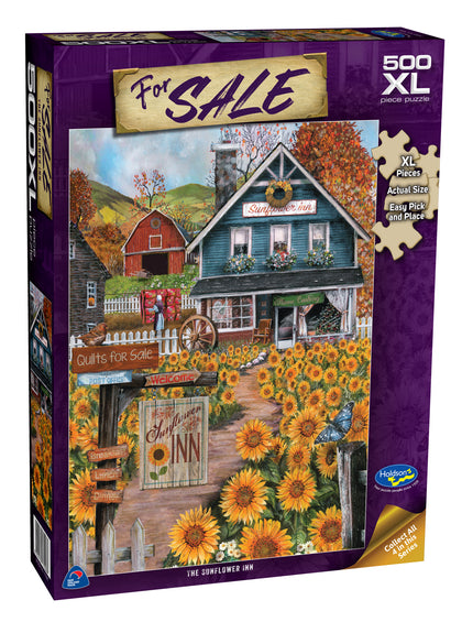Holdson XL: 500 Piece Puzzle - For Sale (The Sunflower Inn)