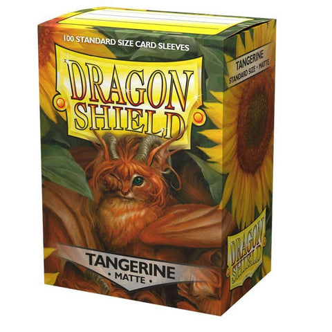 Dragon Shield: Matte Tangerine Sleeves