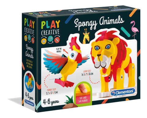 Clementoni: Play Creative - Spongy Animals