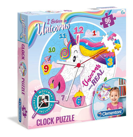 Clementoni: Unicorn Clock Puzzle - 96pc Puzzle