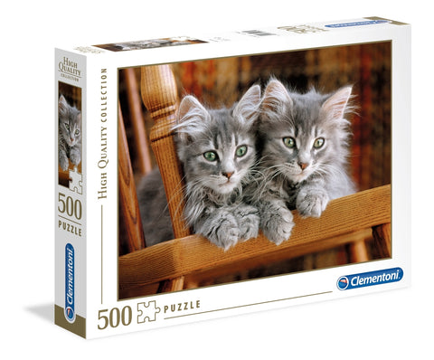 Clementoni: Two Grey Kittens - 500pc Puzzle