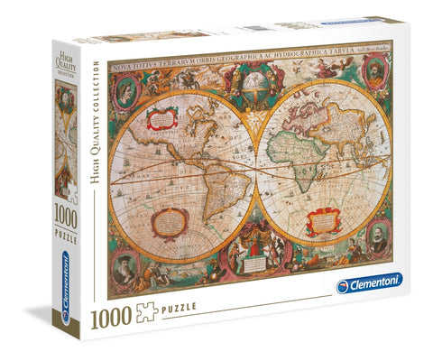 Clementoni: Old Map - 1000pc Puzzle