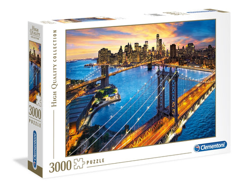 Clementoni: New York 2 - Bridges at night - 3000pc Puzzle
