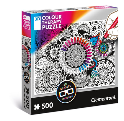 Clementoni: Colour Therapy 3D - Mandela Flower - 500pc Puzzle