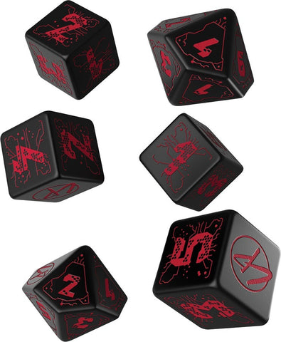 Cyberpunk RPG Red Essential Dice Set