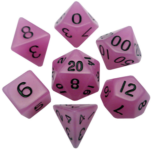 MDG: Resin Dice - Glow Purple 16mm Poly