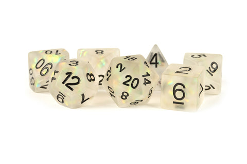 MDG: Resin Polyhedral Dice Set - Icy Opal Clear