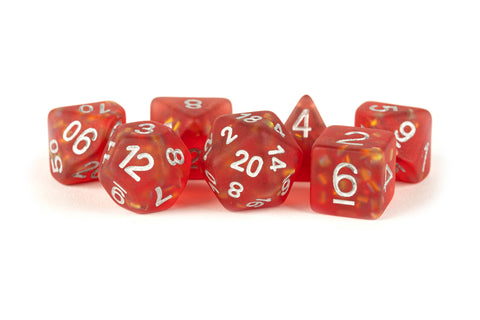 MDG: Resin Polyhedral Dice Set - Icy Opal Red