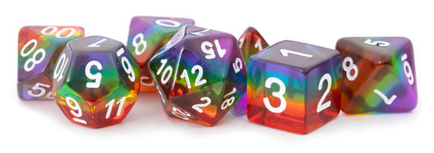 MDG: Resin Polyhedral Dice Set - Translucent Rainbow