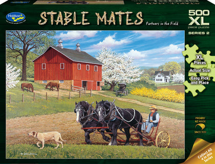 Holdson XL: 500 Piece Puzzle - Stable Mates S2 (Partners in the Field)