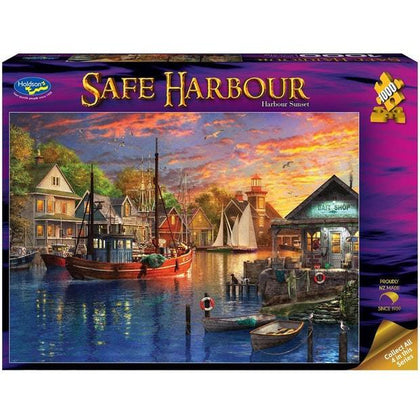 Holdson: 1000 Piece Puzzle - Safe Harbour (Harbour Sunset)