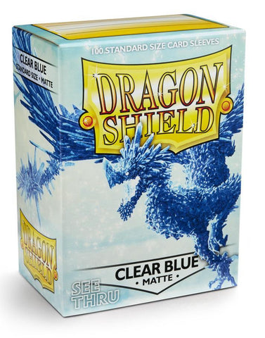 Dragon Shield: Matte Clear Blue Sleeves