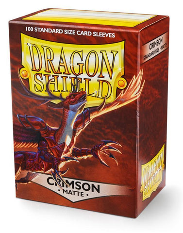 Dragon Shield: Matte Crimson Sleeves