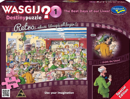 Wasgij XL: 500 Piece Puzzle - Retro Destiny (The Best Days of our Lives)