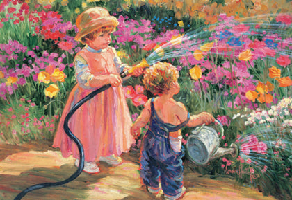 Flower Tots 500 Piece Jigsaw Puzzle - Garden of Innocence