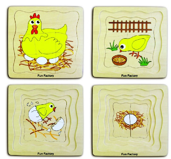 Fun Factory: Chicken Layer Puzzle