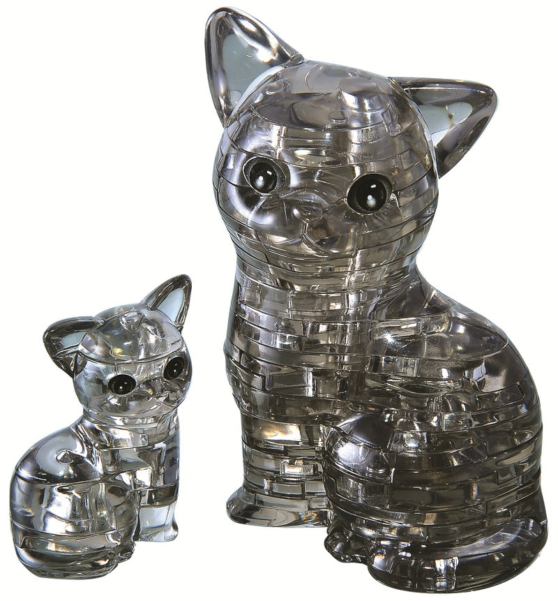 Crystal Puzzle: Black Cat in a Pair