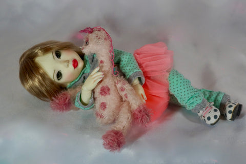 Giraffe Playtime Pink Princess by Bo Bergemann - Fullset Artist BJD - SOLD OUT