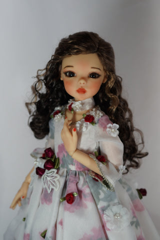 Beauty in Rose Celebration Dress by Bo Bergemann - OOAK Completed Fine Art Doll