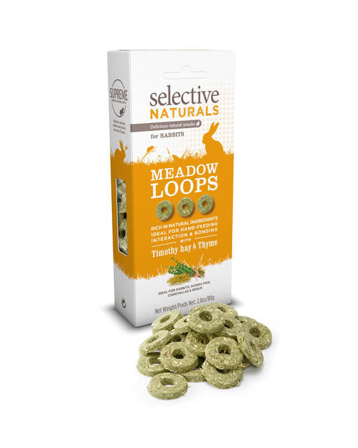 Supreme Selective Naturals Meadow Loops with Timothy Hay & Thyme 80g