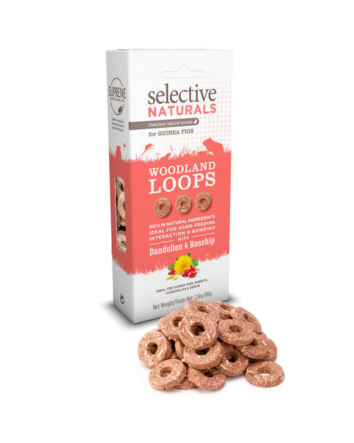 Selective Naturals Woodland Loops with Dandelion & Rosehip 80g
