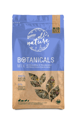 Bunny Nature Mid-Mix Hibiscus Blossoms & Parsley 150g