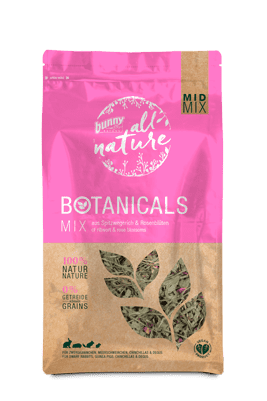 Bunny Nature Mid Mix Ribwort & Rose Blossoms 120g