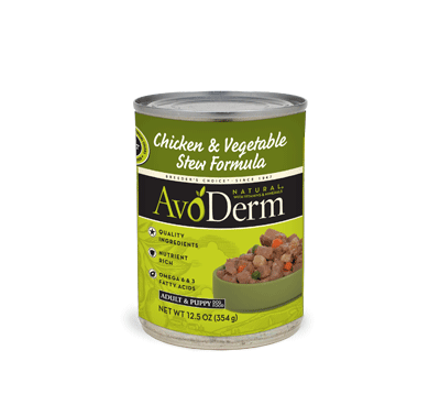 Avoderm Natural Chicken Stew with Vegetables 4lbs