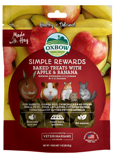 Oxbow Simple Rewards Baked Treat Apple Banana