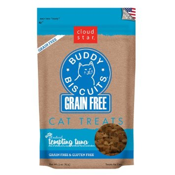 Cloudstar Grain Free Buddy Biscuits for Cats Tempting Tuna 3oz