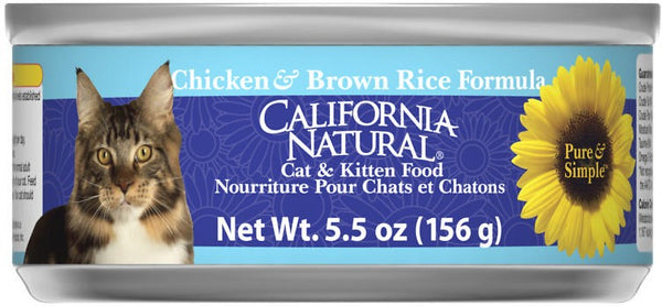 California Natural Cat Chicken & Brown Rice 5.5oz