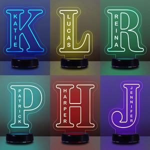 Custom Alphabet Night Lights