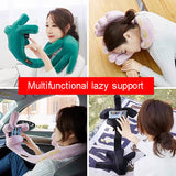 Multifunctional lazy mobile phone holder U-shaped pillow neck pillow