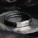 Men Bracelet with Custom Bar in Silver