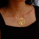 PERSONALIZED FAMILY TREE NAME NECKLACE