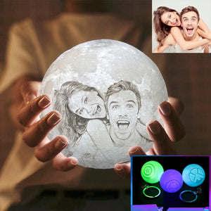 3D Customized Moon Lamp
