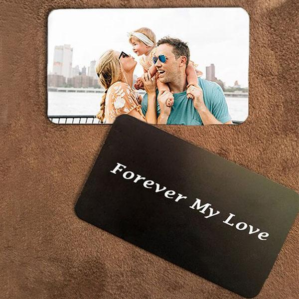Personalized Photo Men's Gray Wallet(The second one is only $24.00)
