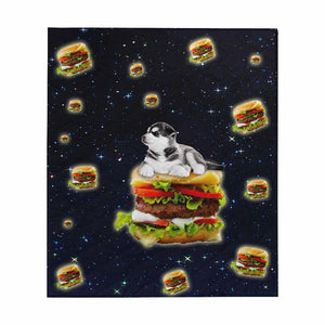 Custom Dog Photo Hamburger Quilt