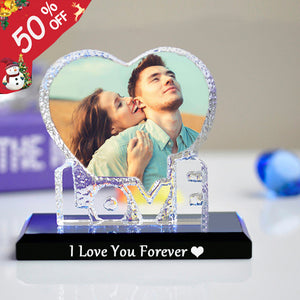 Personalized crystal photo LOVE Shape