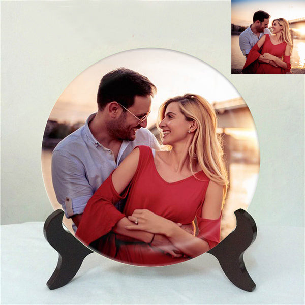 Custom photo porcelain plate decoration