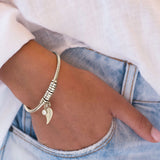 Open Bangle Bracelet with Beads