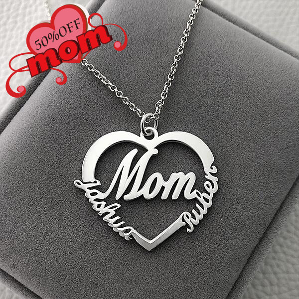 """Mom"" Style Heart-Shaped Name necklaces"