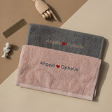 Personalized name embroidery towel
